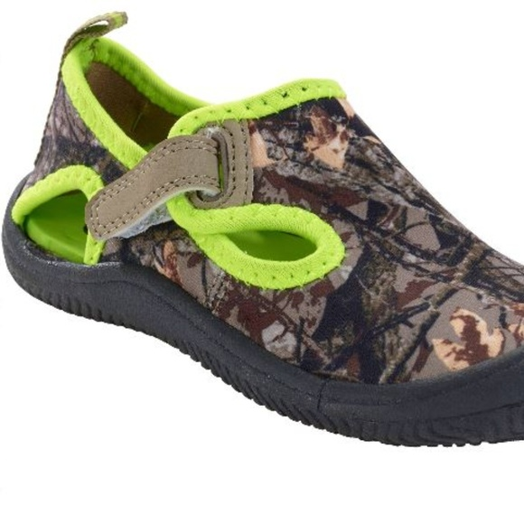 OP Toddler Boy/'s Grippy Sole Camo Water Shoes Small 5-6 GREEN CAMO